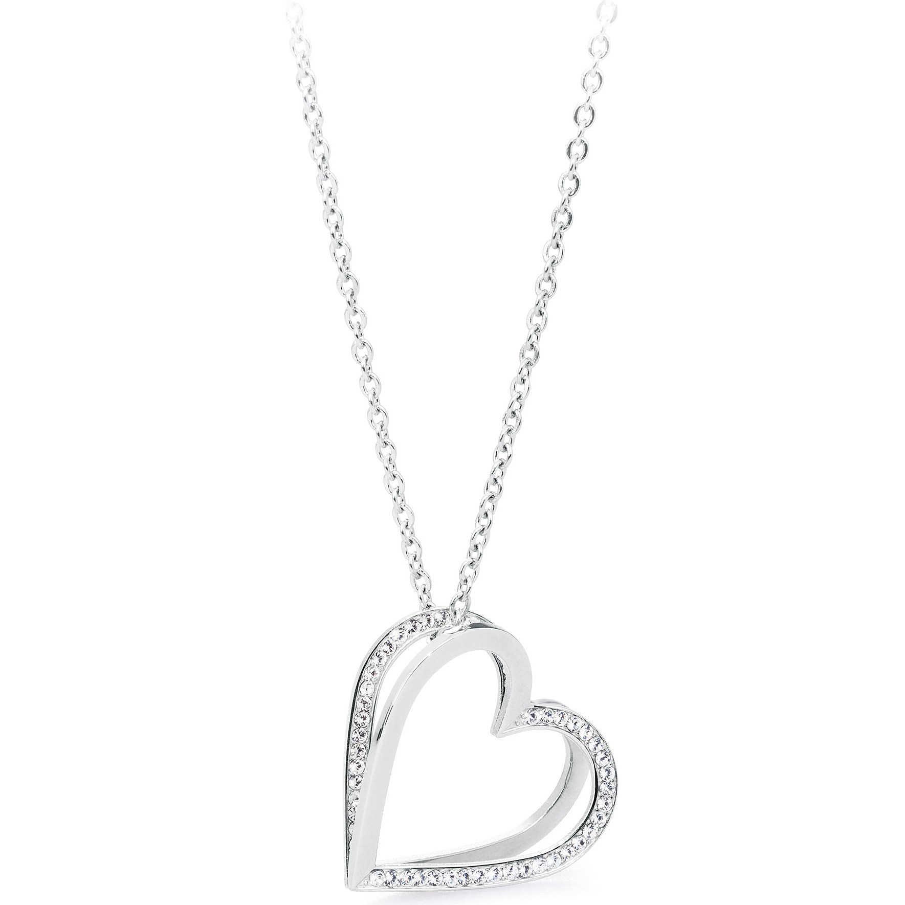 l'ultimo 49d04 9b8ed Collana Brosway donna Frame con cuore e cristalli bianco