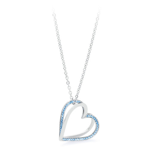 Collana Brosway con ciondolo cuore con cristalli blu - Collane Valsusa