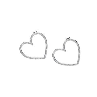 Orecchini Brosway Minuetto donna cuore con cristalli di Swarosvki bianchi - Orecchini Valsusa