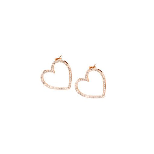 Orecchini Brosway donna Minuetto cuore con cristalli di Swarosvki oro rosa - Orecchini Torino