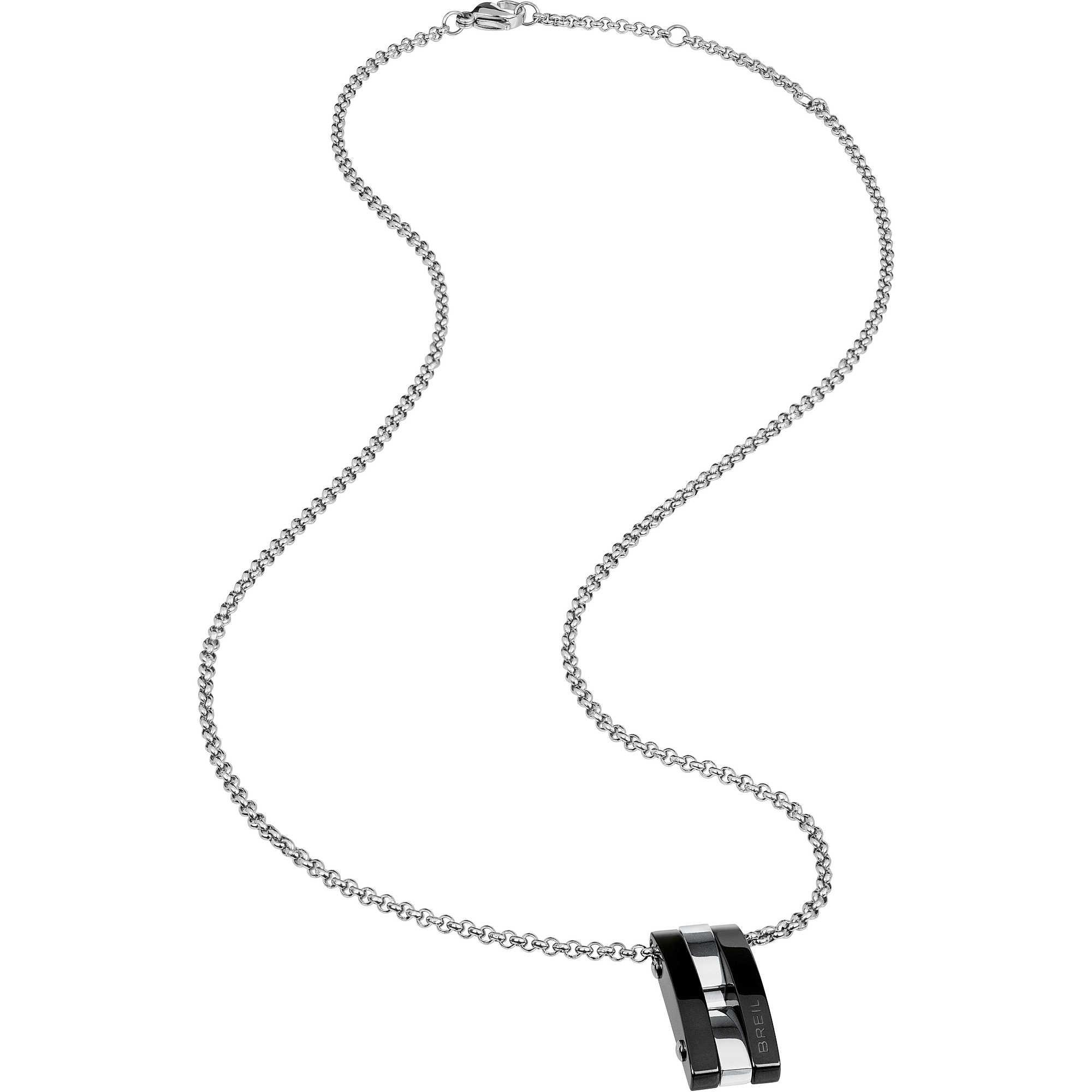 compra meglio fabbricazione abile vendita a buon mercato usa Collana Breil uomo in acciaio con pendente con particolari neri