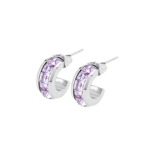Orecchini Brosway Tres Jolie con cristalli colore lilla - Orecchini Torino