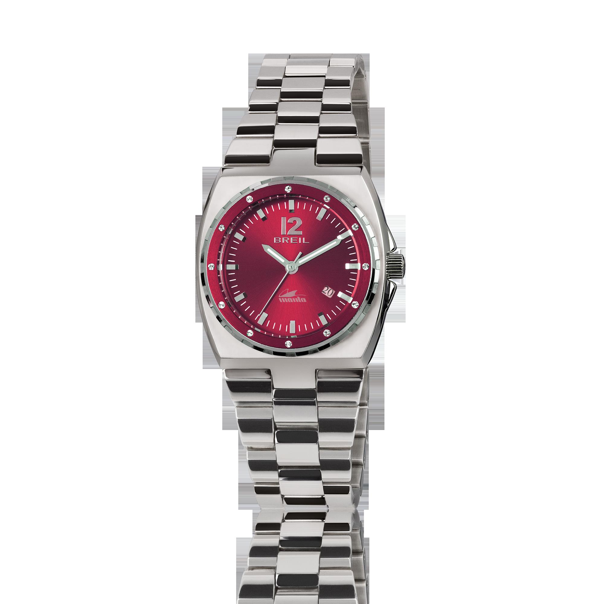 Orologio breil manta da donna con quadrante rosso in for Immagini orologi da polso