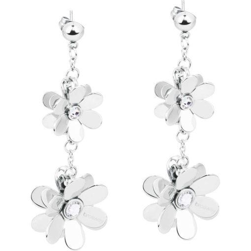 Orecchini Brosway donna Jardin con fiori e cristalli - Orecchini Valsusa