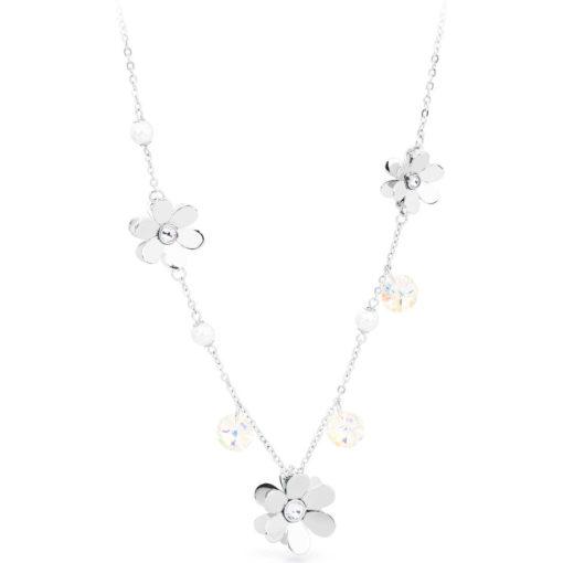 Collana Brosway donna Jardin con fiori, cristalli e perle - Collane Brosway Torino