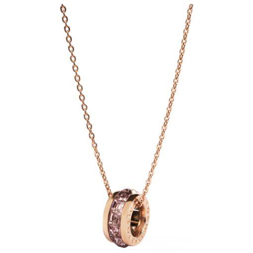 Collana Brosway da donna oro rosa con swarovski - Gioielli Torino