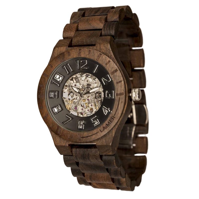 Orologio laimer legno uomo 0096 felix in offerta da for Orologio legno amazon