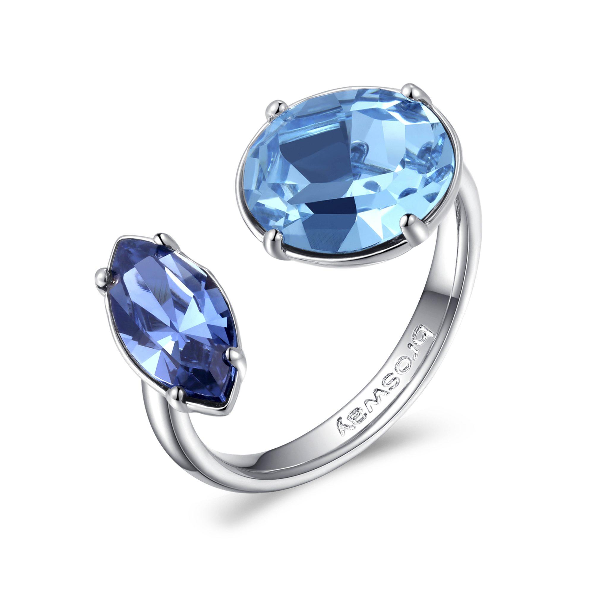 Estremamente Anello Brosway donna ottone e 2 cristalli di Swarovski blu - in  RN28