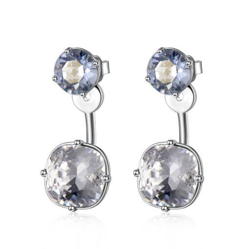 Orecchini Brosway donna in ottone color silver con cristalli colorati - Orecchini Valsusa