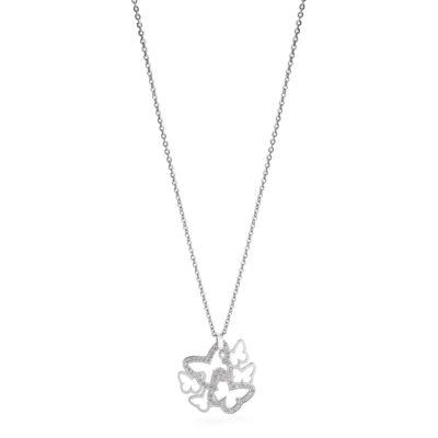 Collana corta Brosway donna in acciaio con pendente farfalle con cristalli bianchi - Collane Torino