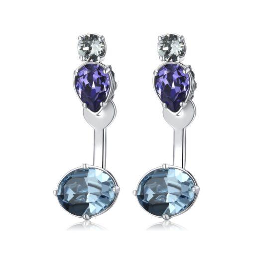 Orecchini Brosway donna in ottone color silver con cristalli blu - Orecchini Torino