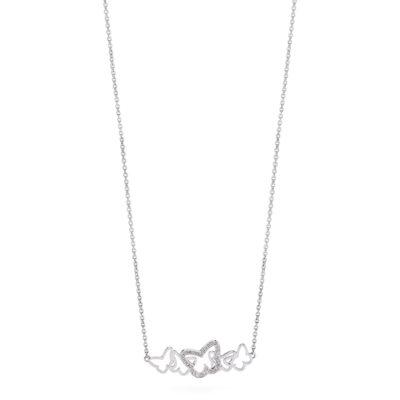 Collana corta Brosway donna in acciaio con inserto farfalle con cristalli bianchi - Collane Torino