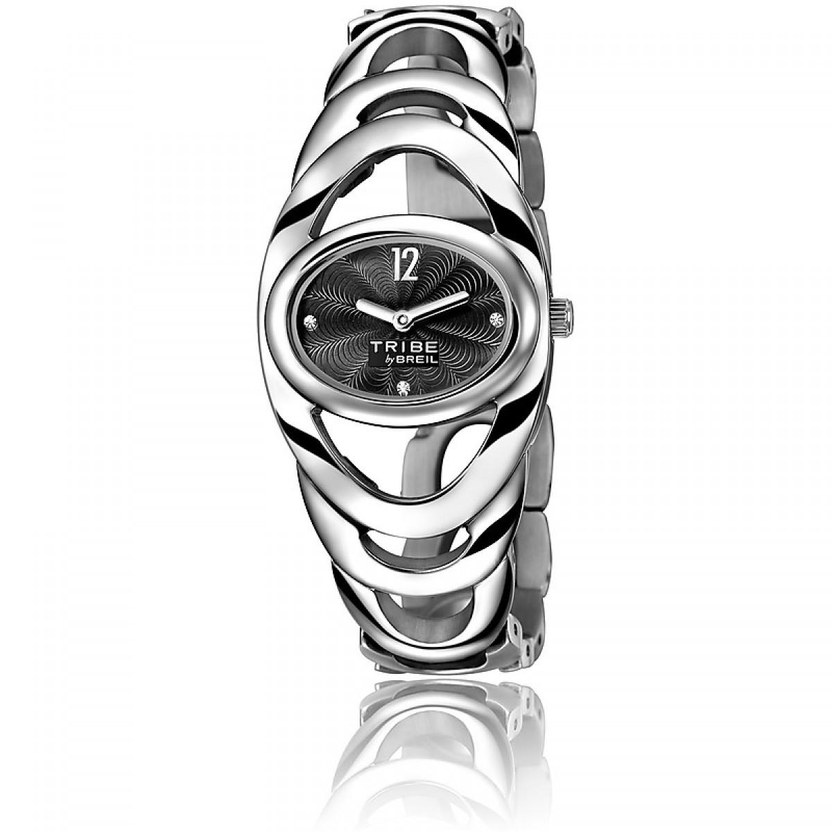 TW0883 orologio solo tempo breil tribe saturn donna quadrante nero con swaroski - Orologi Valsusa