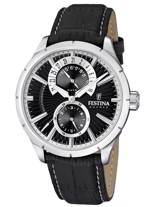 orologio festina total black solo tempo con datario uomo - Orologi Festina Torino