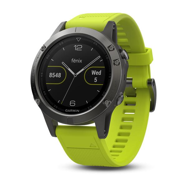 garmin fenix 5 orologio gps multisport giallo smartwatch