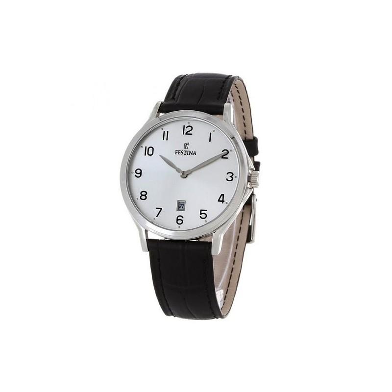 orologio da polso festina da uomo in pelle classico f16745