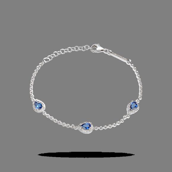 BRACCIALE mORELLATO DONNA in argento con zirconi bluSAIW11