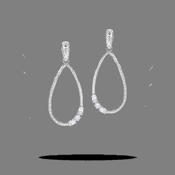 Orecchini Morellato Michelle hunziker in argento con zironi bianchi