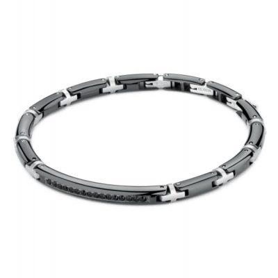 Bracciale Brosway Rail uomo in acciaio e cristalli Swarovski - Bracciali Torino