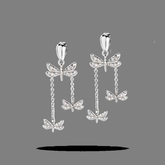 Orecchini Morellato donna Ninfa con farfalle e cristalli pendenti Michelle Hunziker