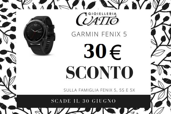 Sconto 30€ sulla gamma Garmin Fenix5,  5S e 5X