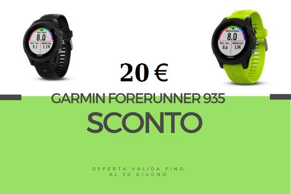 Sconto 20€ sul nuovo Orologio Garmin Forerunner 935