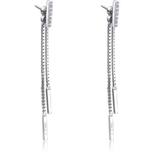 Orecchini lunghi in argento Valsusa