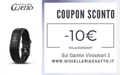 Sconto 10€ sul Garmin Vivosmart 3