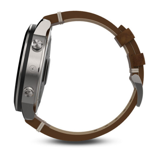 010-01957-00 Orologipo garmin con cinturino in pelle marrone Feniz chronos