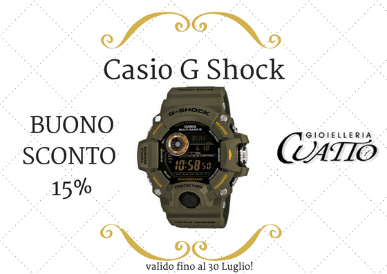 Orologio Casio G SHOCK: coupon sconto 15%