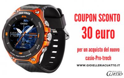 Orologio Casio Pro Trek: coupon sconto 30€