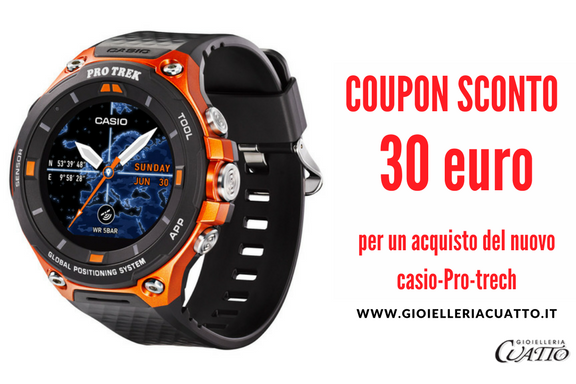 Orologio Casio Pro Trek: coupon sconto 30€