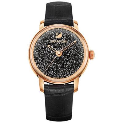 Orologio swarovski nero gioielleria cuatto