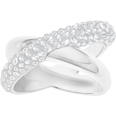 71ca9ef10f3be1 Anello Swarovski Crystaldust Cross bianco