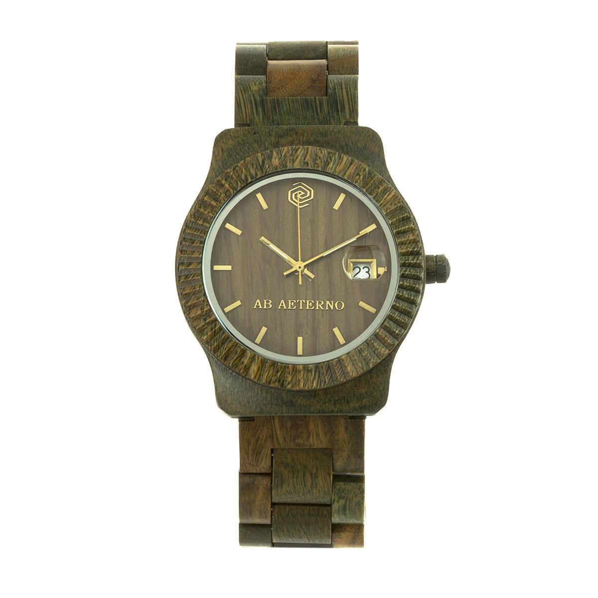 orologio in legno ab aeterno naturale vegan