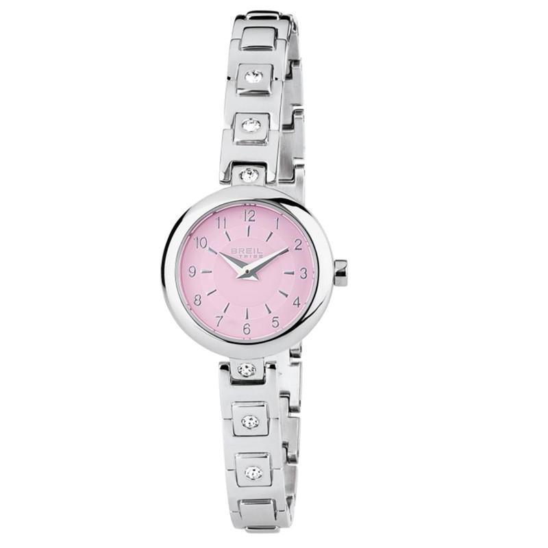 New York più tardi bellissimo aspetto Orologio Breil donna solo tempo in acciaio e cristalli EW0224 rosa ...