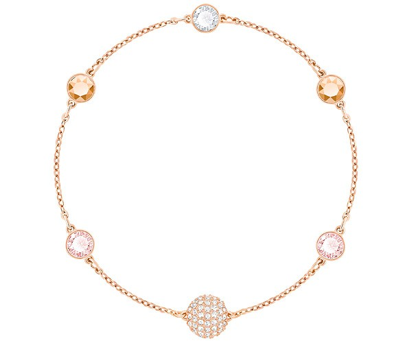 nuovo stile ea5d0 c63d9 Bracciale Swarovski Remix oro rosa con cristalli rosa 5354795