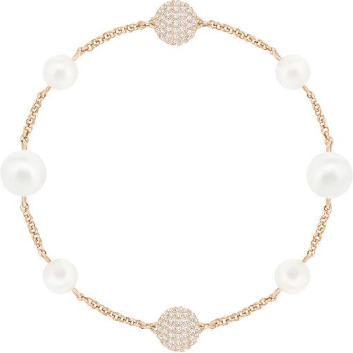 Bracciale swarovski Sawrovski Remix oro rosa con perla