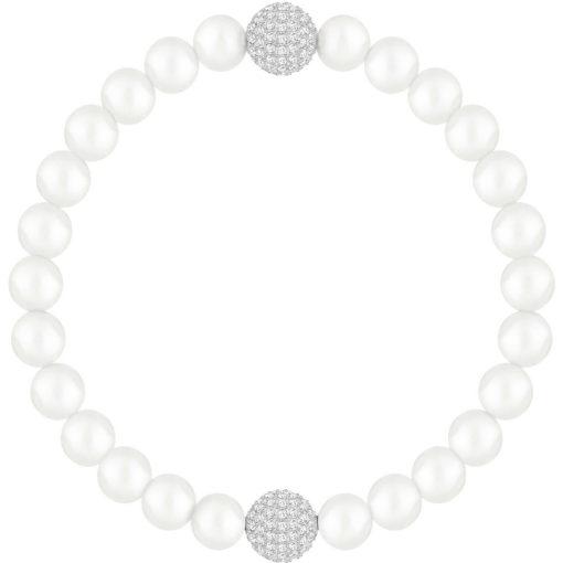 Braccaile Swarovski donna perle bianche , Idee regalo Torino