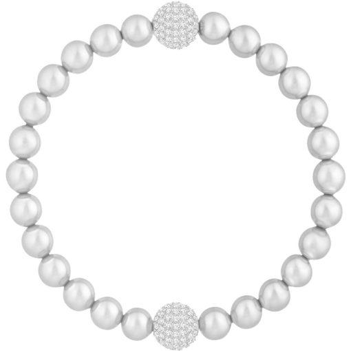 Bracciale Swarovski Susa donna con perle grigie, idee regalo Torino