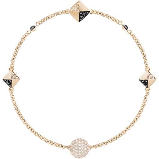Bracciale Sawrovski Remix ; colore oro rosa e cristalli neri e bianchi 5352537
