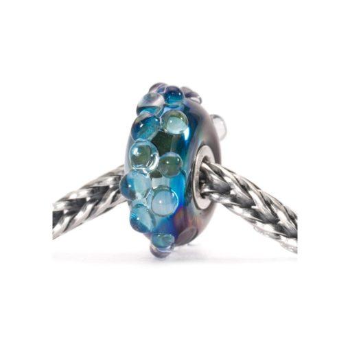 Trollbeads Beads Oceano di Luna in vetro di murano blu
