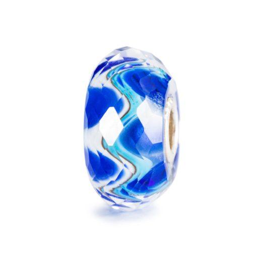 Trollbeads Armonia Sfaccetta beads in vetro di burano blu