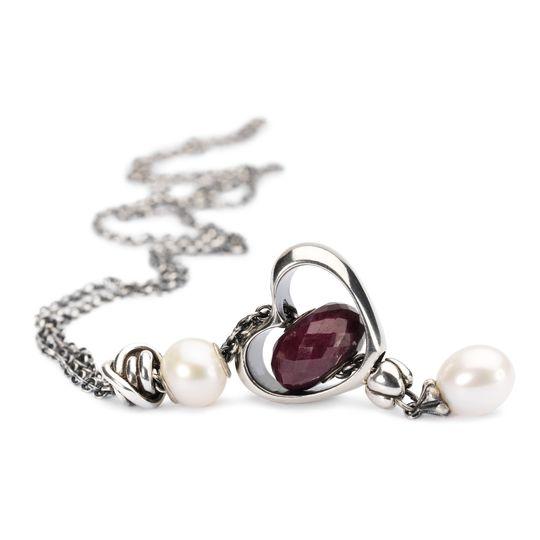 incontrare 7398a 04933 Trollbeads Collana Fantasia in argento con perla bianca