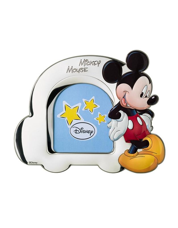 Portafoto Disney blu con Topolino a forma di macchina