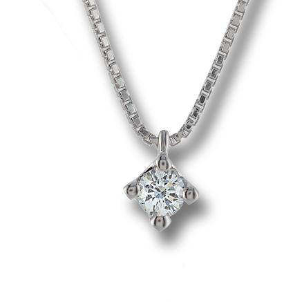 Collana in oro bianco, diamanti bussoleno, idea regalo gemoro