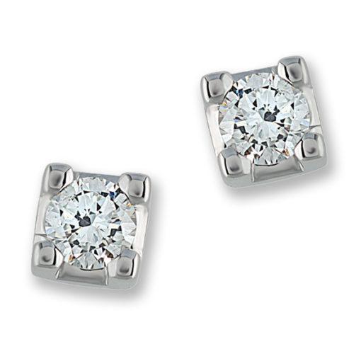 orecchini in oro, diamanti, san valento, regalo san valentino, idea regalo