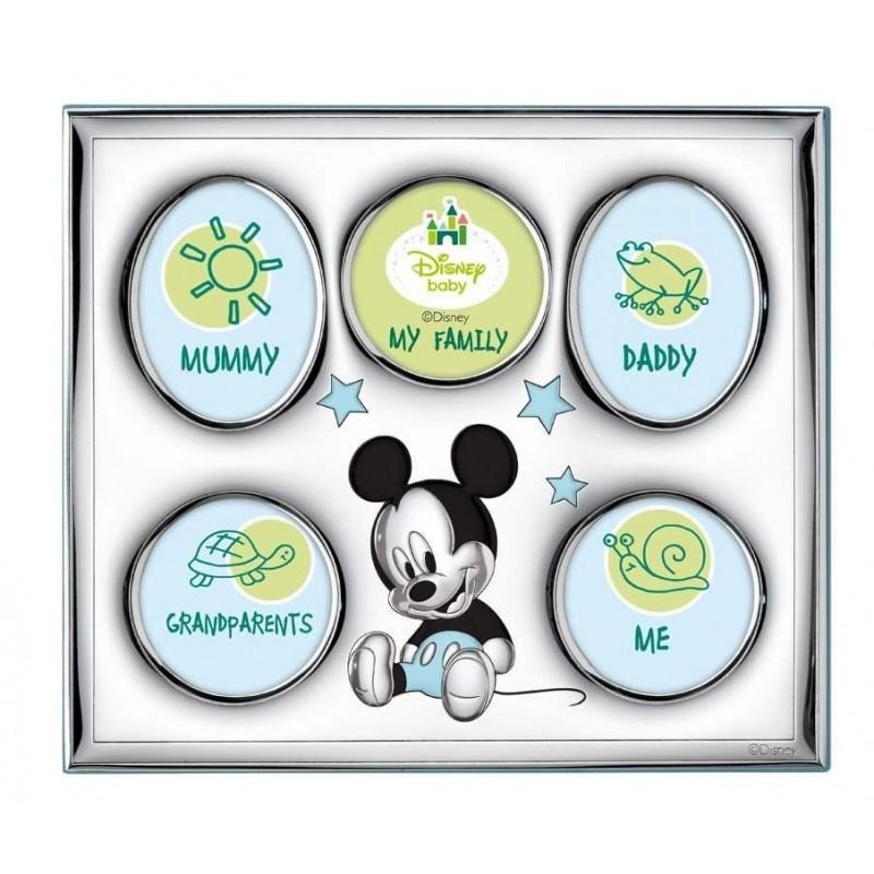 Portafoto Disney blu con Topolino