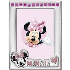 Portafoto disney, Minnie mouse,battesimo, nascite, idea regalo