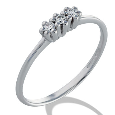 Trilogy, trilogy in oro, anello in oro diamanti.